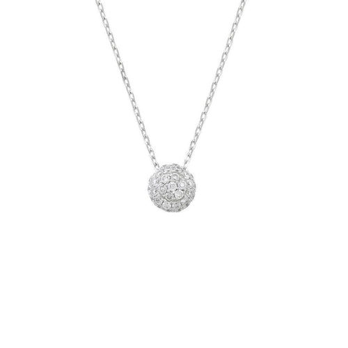 Bloomsbury White Gold Diamond Ball Pendant-Necklaces-London Road Jewellery-JewelStreet
