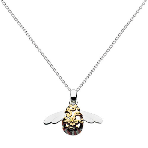 Blossom Bumblebee Gold Plate Necklace ,[product vendor],JewelStreet