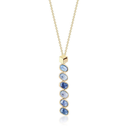 Blue And White Sapphire Ombre Necklace-Necklaces-Paolo Costagli New York-JewelStreet