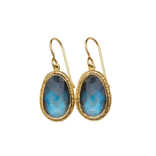 Blue Labradorite Earrings-Earrings-Susan Wheeler Design-JewelStreet