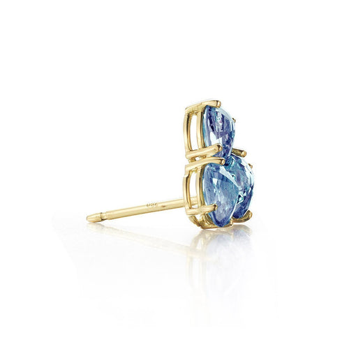 Blue Sapphire Ombre Stud Earrings-Earrings-Paolo Costagli New York-JewelStreet