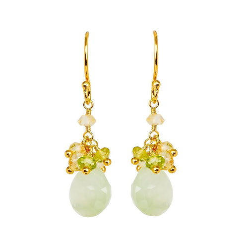 Cari Citrine Peridot And Prehnite Earrings ,[product vendor],JewelStreet
