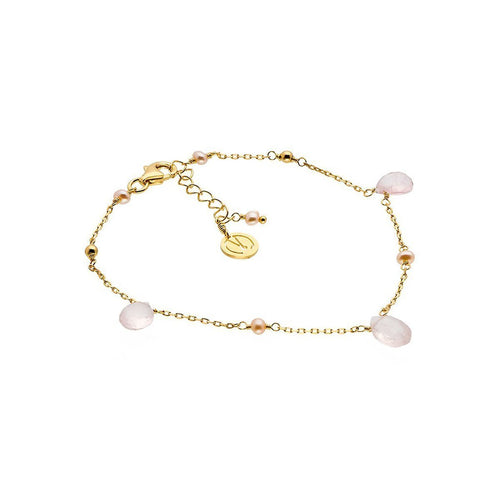 Cari Gold Vermeil Rose Quartz Bracelet ,[product vendor],JewelStreet