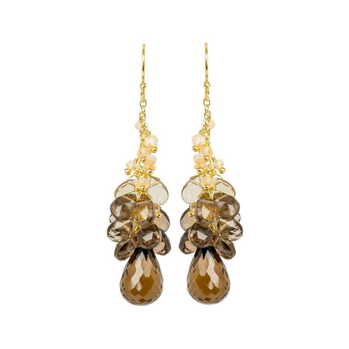 Cari Smoky Quartz Drop Earrings ,[product vendor],JewelStreet