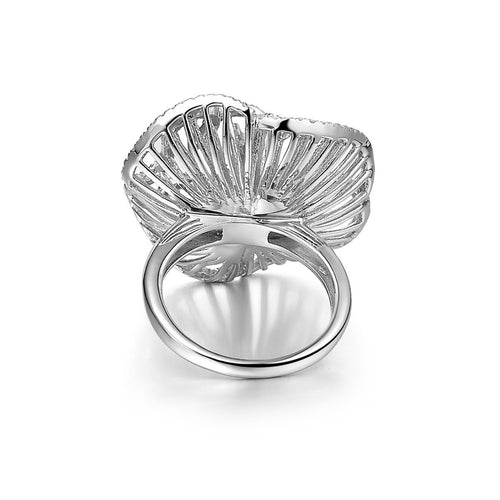 Cascade Mini Ring In Rhodium Plate-Rings-Fei Liu-JewelStreet