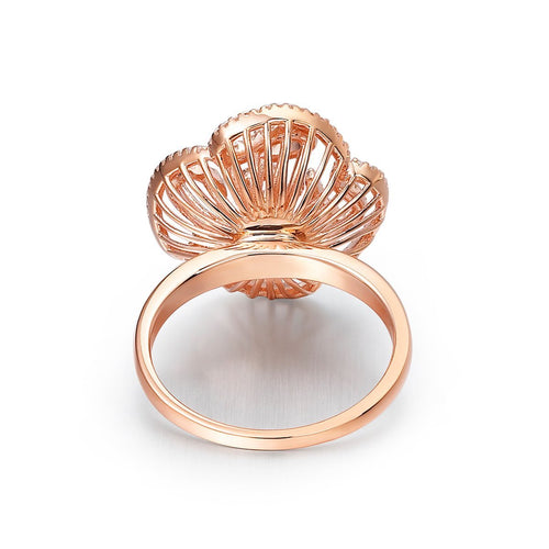 Cascade Stud Ring In 18kt Rose Gold Plate-Rings-Fei Liu-JewelStreet