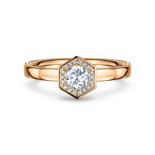 Chapiteau 33pt Rose Gold Ring ,[product vendor],JewelStreet