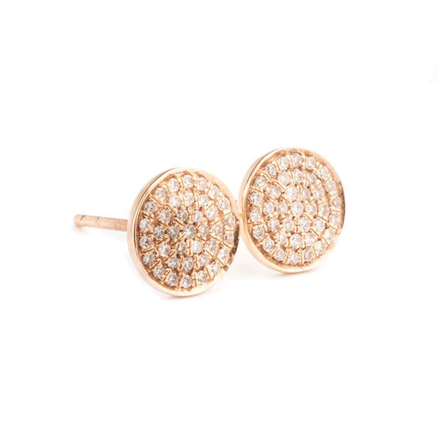 Circle Diamond Earrings ,[product vendor],JewelStreet