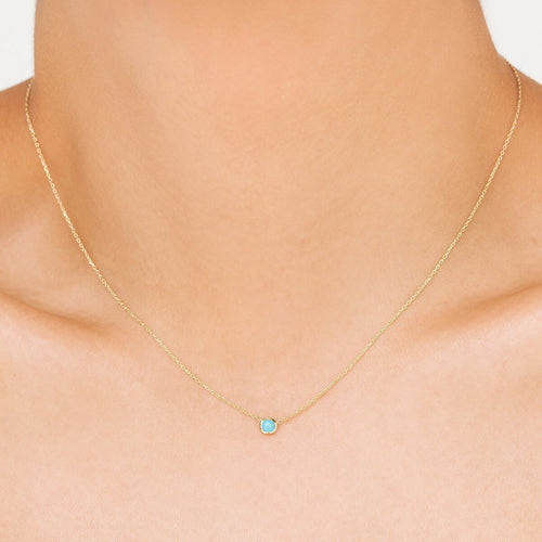 Classic Turquoise December Choker ,[product vendor],JewelStreet
