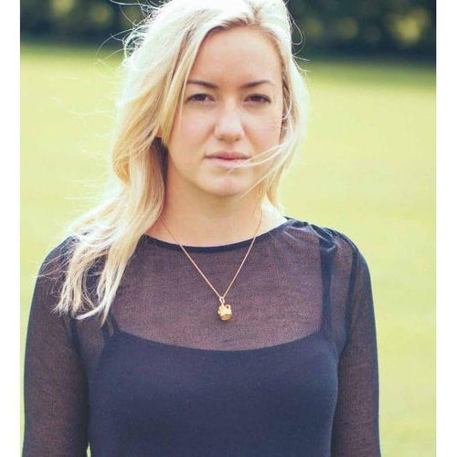 Crown Gold Plated Charm-Necklaces-Katie Mullally-JewelStreet