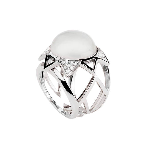 Crown Ring - White ,[product vendor],JewelStreet
