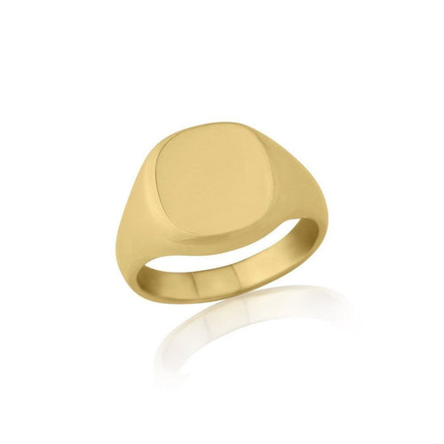 Cushion-shaped 9kt Yellow Gold Extra-Heavyweight Signet Ring ,[product vendor],JewelStreet