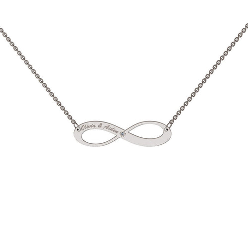 Diamond Accented Infinity Necklace-Necklaces-me.mi-JewelStreet