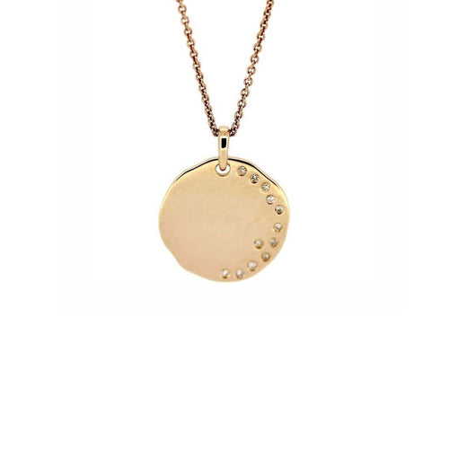 Diamond Disc Necklace-Necklaces-Kura Fine Jewellery-JewelStreet