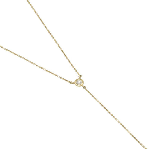 Diamond Tie Necklace ,[product vendor],JewelStreet