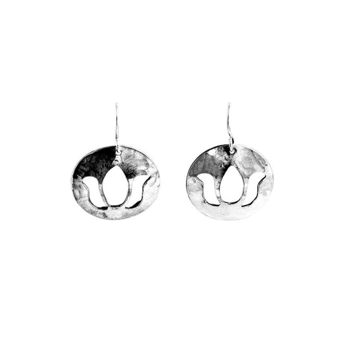 Disc Drop Earrings In Sterling Silver ,[product vendor],JewelStreet