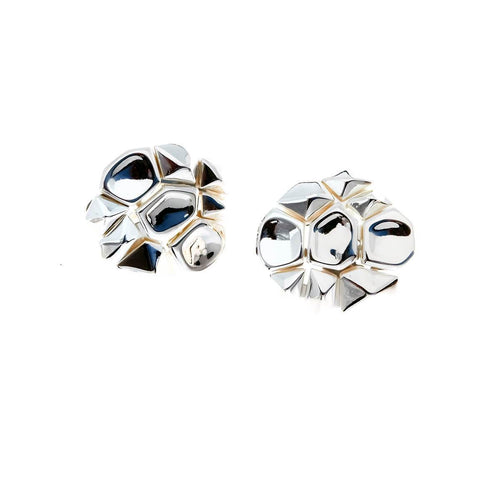 Dragon Skin Earrings Rhodium Plated ,[product vendor],JewelStreet