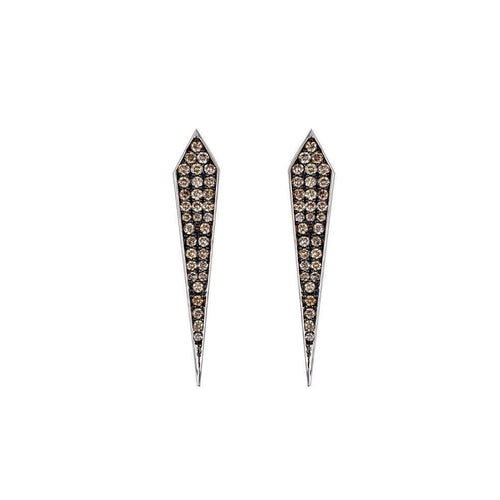Elle Champagne Diamond Stud Earrings-Earrings-Arya Esha-JewelStreet