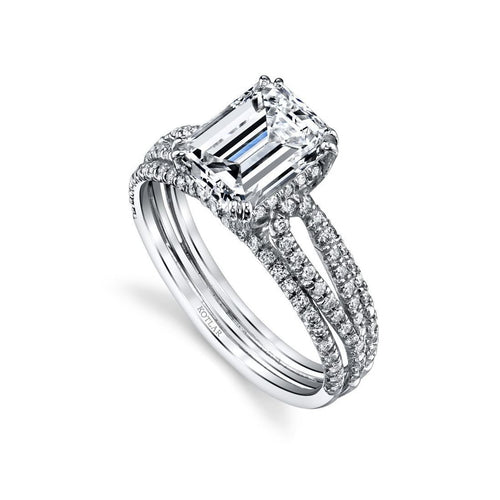 Emerald Cut Arabesque Ring-Rings-Harry Kotlar-JewelStreet