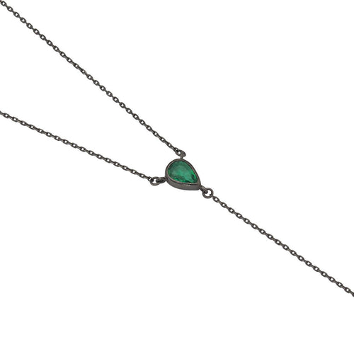 Emerald Tie Necklace ,[product vendor],JewelStreet