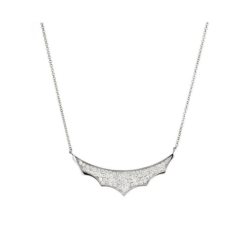Empress White Gold Necklace and Diamonds-Necklaces-Mimata-JewelStreet