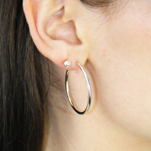 Everyday Large Silver Hoops ,[product vendor],JewelStreet