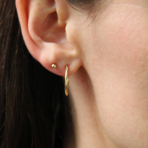 Everyday Small Gold Hoops ,[product vendor],JewelStreet