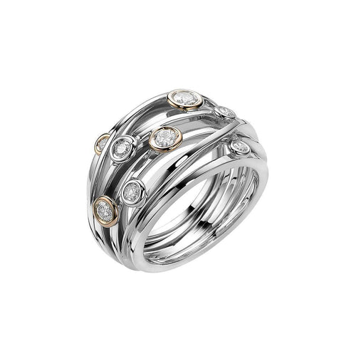 Ferns Ring Large White Gold ,[product vendor],JewelStreet