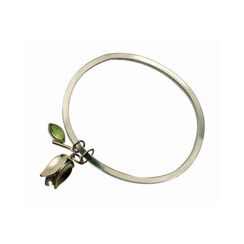 Floral Bangle-Bracelets-Farah Qureshi-JewelStreet