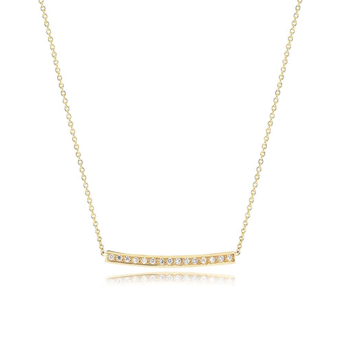 Flow Necklace With Diamonds In Yellow Gold ,[product vendor],JewelStreet
