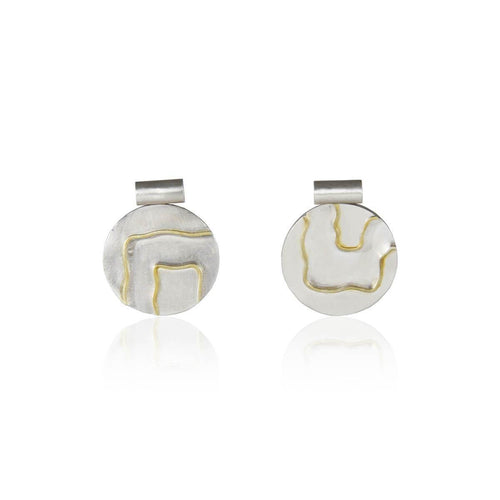 Fluid Pattern Statement Stud Earring ,[product vendor],JewelStreet
