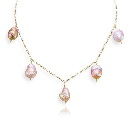 Fresh Water Pearl Necklace by Laura Jackowski-Dickson-Necklaces-LJD Designs-JewelStreet