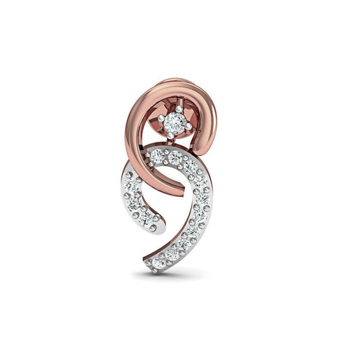 Frippery Diamond Earrings in 18kt Rose Gold-Earrings-Diamoire Jewels-JewelStreet