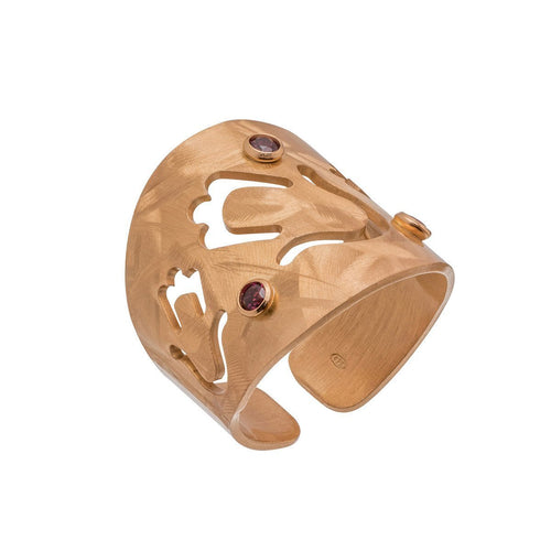 Garnet Veneto Hamsa Ring ,[product vendor],JewelStreet