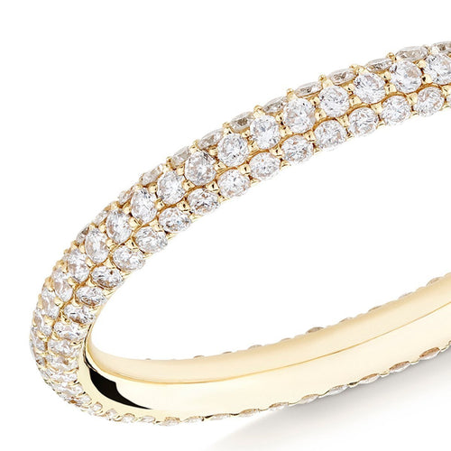 Gemopoli 3 Row Diamond Ring In Yellow Gold ,[product vendor],JewelStreet