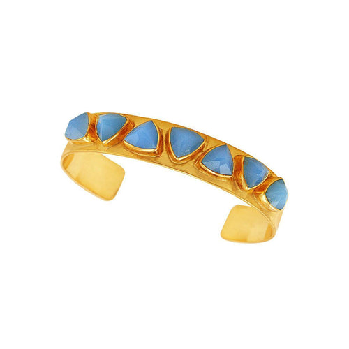 Geometric Cuff Blue ,[product vendor],JewelStreet