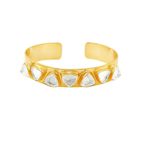 Geometric Cuff Clear ,[product vendor],JewelStreet