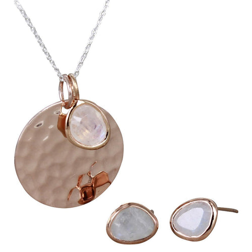 Georgie-Jane Necklace and Matching Earrings-Necklaces-Reeves and Reeves-JewelStreet