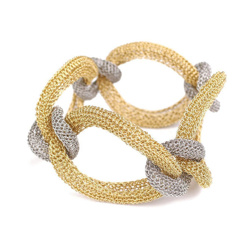Goddess coloured Link Twist Bracelet-Bracelets-Tove Rygg-JewelStreet