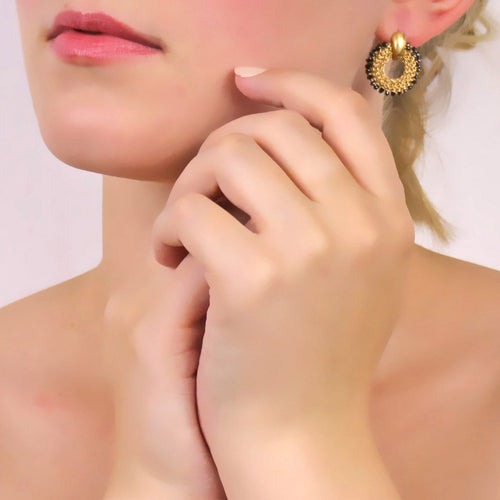 Goddess Sun Link Earrings-Earrings-Tove Rygg-JewelStreet