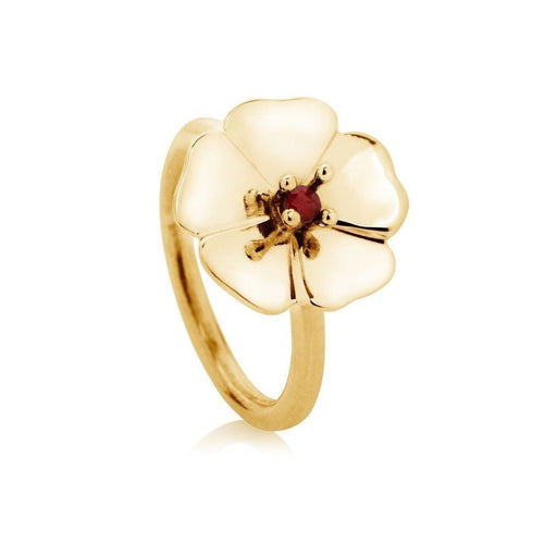 Gold and Ruby Cotswold Ring-Rings-Augustine Jewels-JewelStreet