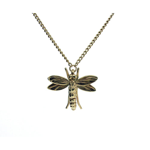Gold Dragonfly Necklace-Necklaces-Will Bishop-JewelStreet