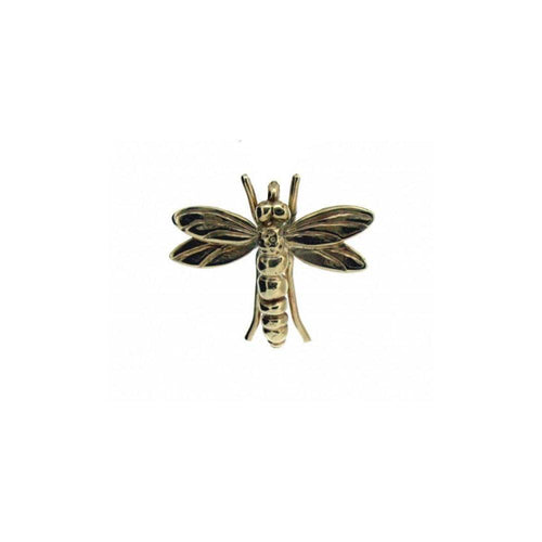 Gold Dragonfly Pendant Without Chain-Necklaces-Will Bishop-JewelStreet