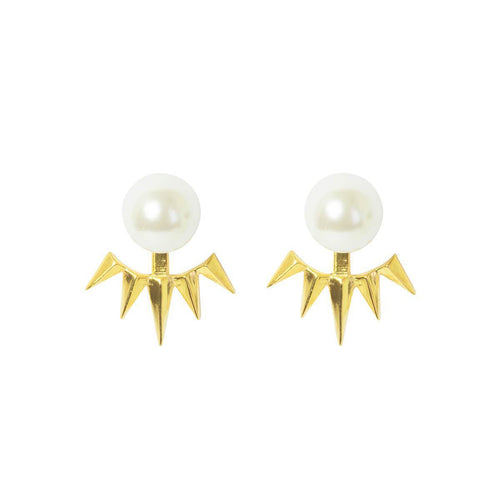 Gold Pearl Cuff Earrings ,[product vendor],JewelStreet