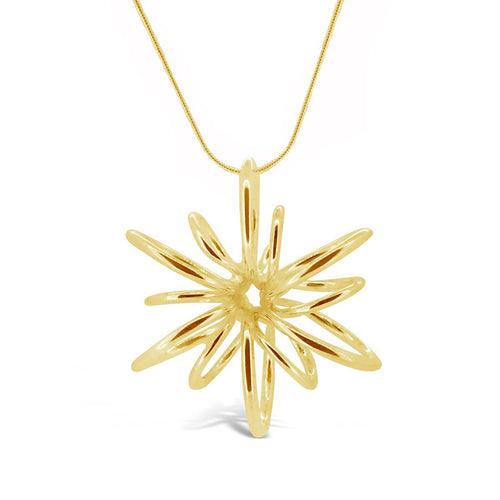 Gold Small Lotus Necklace-Necklaces-Maree London-JewelStreet