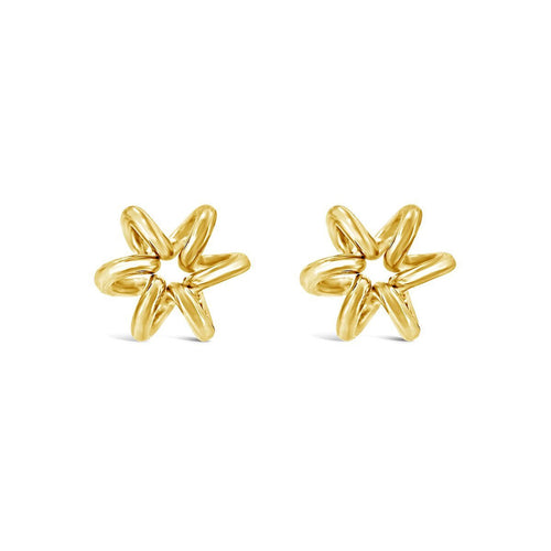 Gold Stud Daffodil Earrings-Earrings-Maree London-JewelStreet