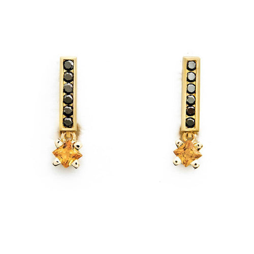 Gravity 18kt Sapphire Mandarin Earrings ,[product vendor],JewelStreet