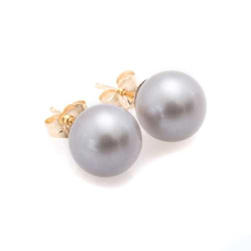Grey Pearl Earrings-Earrings-Oh my Christine Jewelry-JewelStreet