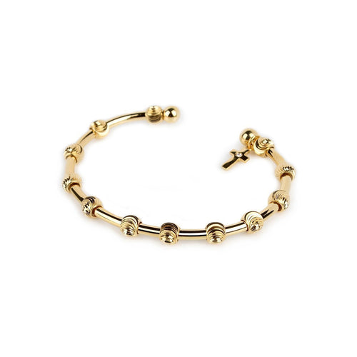 Happy and Blessed Golden Bracelet-Bracelets-Chelsea Charles-JewelStreet
