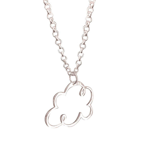 Head In The Clouds Necklace - Silver Plated ,[product vendor],JewelStreet